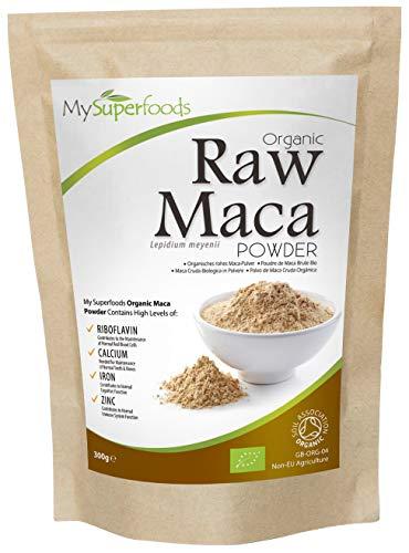 Bio Maca Pulver (300g) | MySuperFoods | Bepackt mit gesunden Nährstoffen | Antike gesunde Lebensmittel aus Peru | Köstlicher malziger Geschmack | Organisch zertifiziert - Faser-ergänzung Kapseln
