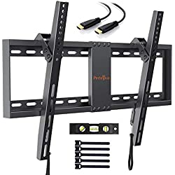 Support Mural TV Inclinable pour LED, LCD, OLED, TV à Écran Plat De 32 à 70 Pouces - Support Mural Ultra Résistant Qui Inclus Câble HDMI 1.8m, Niveau à Bulle, Attaches De Câble