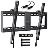 Perlegear Support Mural TV Inclinable pour LED, LCD, OLED, TV à Écran Plat De 37 à 70 Pouces - Support Mural Ultra Résistant Qui Inclus Câble HDMI 1.8m, Niveau à Bulle, Attaches De Câble
