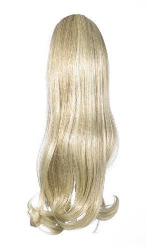 Love Hair Extensions - LHE/N/INDIA/DS/22/60/613 - Prime de Fibres India - Cordon Coulissant - Queue de Cheval - Couleur 22/60/613 - Blond Plage / Blond Pur / Blond Crème