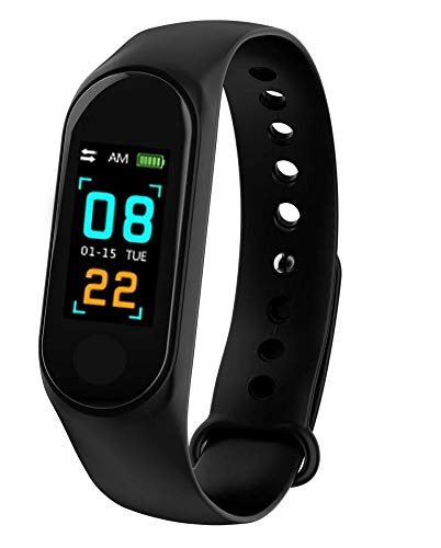 TECHPOOLSmart Fitness Band 3 Activity Tracker, Bluetooth 4.2, Fitband with OLED Heart...