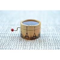 Caja de música manual redonda Torre Eiffel con el * Vals de Amelie *. El regalo perfecto para amantes de la música. Mecanismo musical de manivela.
