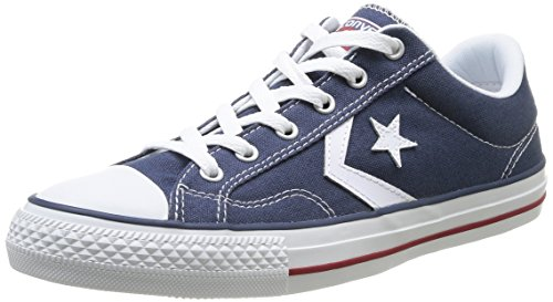 Converse Star Player Adulte Core Canvas Ox, Baskets mode mixte adulte Bleu (Marine/Blanc)