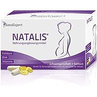 SanaExpert Natalis, Suplemento Nutricional Para Mujeres Embarazadas y Lactantes con Ácido Fólico, Hierro,