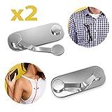 2X Stück Oramics Brillenhalter magnetisch aus Edelstahl Magnetclips magnetische Brillenhalterung zur Befestigung auf der Kleidung