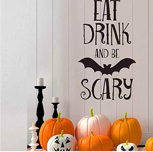 ry Quotes Wandaufkleber Halloween Party Decals Startseite Raumdekoration Adesivo De Paredes Abnehmbare Diy Wandaufkleber ()