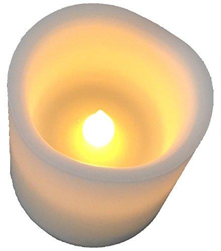 "IKEA LED-Blockkerze\""Skäppa\"" LED-Kerze in weiss - sehr warmes, gemütliches Licht - Höhe: 7,7 cm Durchmesser: 7 cm - BRANDSICHER"