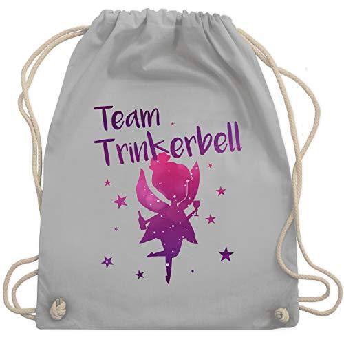 JGA Junggesellinnenabschied - Team Trinkerbell - Unisize - Hellgrau - WM110 - Turnbeutel & Gym - Fairy Mann Kostüm