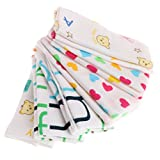 JIACUO 6 Pezzi fazzoletti di Cartone Animato per Bambini Fazzoletto da Bagno Alimentazione Viso Asciugamano salvietta Panno