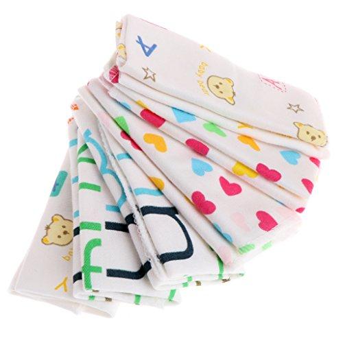 JAGENIE 6pcs Baby Cartoon asciugamani fazzoletto Balneazione Feeding Face Washcloth Wipe Cloth