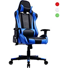 Prime Selection Products Silla de Oficina Gaming; Asiento Gamer con Alto Respaldo Reclinable Racing