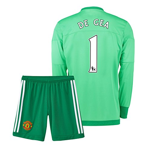 UKSoccershop 2015-16 Manchester United Home Goalkeeper Mini Kit (De GEA 1) 3f25d5c39