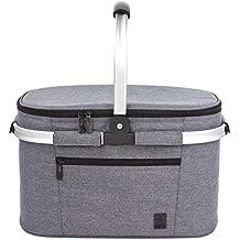 ALLCAMP familia aislada cesta de picnic,bolsa térmica Negro