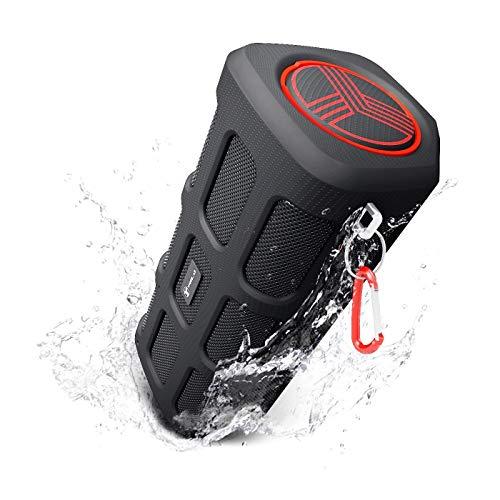 Treblab FX100 Altavoces Portátiles con Bluetooth. Resistentes para Uso Exterior. Resistentes al Agua. Power Bank de 7000mAh Integrado, Micrófono, Loud Audio con Bajos Profundos, Altavoz inalámbrico