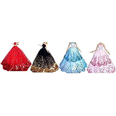 OurKosmos® Splendida partito Handmade abito Vestiti & abiti da sposa accessori bambola Doll-4PCS