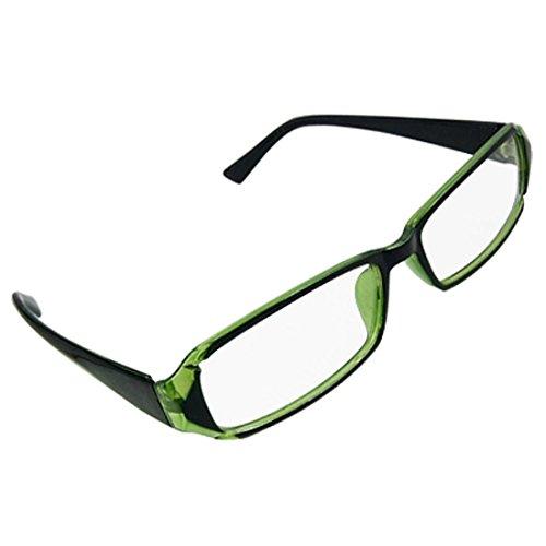 Frau Mann Rechteck Linse aus Kunststoff schwarz Arme umrandeten Brille