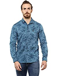 Mufti Men's Printed Slim Fit Casual Shirt