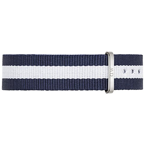 Cinture-di-pelle-Daniel-Wellington-Classy-Unisex-Glasgow-Cinturino-tessili-blu-biancoargento-DW00200082