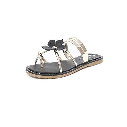 Printemps/Eté fashion Lady-orteil/talons bas open toe shoes/La version coréenne de chaussures plates/simple Joker C