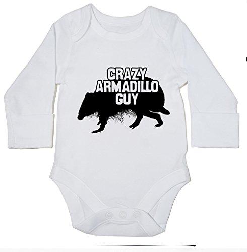 hippowarehouse-crazy-armadillo-guy-baby-bodysuit-long-sleeve-boys-girls