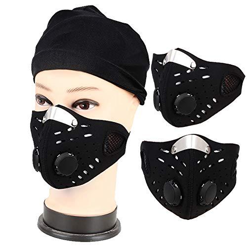 Anti-Verschmutzung Sports Mask - Aktivkohle-Maske. Verstellbarer Riemen . Schutz Gegen Abgase, Smog, Pollenallergie, Für Die Stadt Pendeln, Laufen, Radfahren, Motorrad Und Alle Outdoor-Aktivitäten. (Stadt Maske Die)