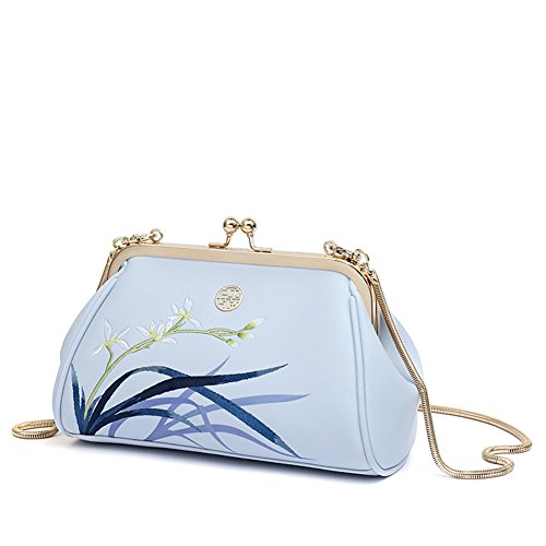 LL-COEUR , Damen Clutch 215 x 80 x 140 mm Hellblau
