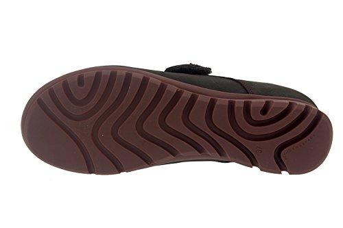 Scarpe donna comfort pelle Piesanto 7526 casual comfort larghezza speciale Caoba