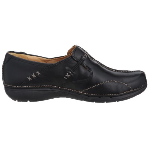 Clarks Un Loop, Mocassins femme Noir (Black Leather)