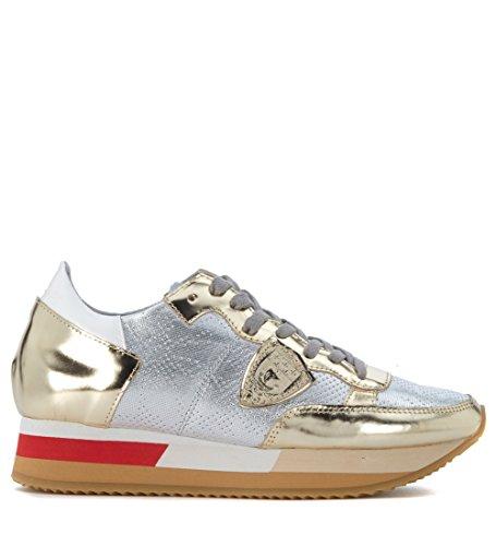 Sneaker Philippe Model Josephine in pelle specchiata Argento