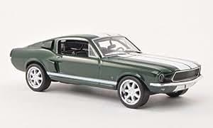 Ford Mustang Fastback, dkl.-grün/weiss, ''Fast & Furious'' , 1967, Modellauto, Fertigmodell, Greenlight 1:43