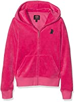 Juicy Couture Girl's Solid Robertson Zip Hoodie, Pink (Mouse Pink), 6-7 Years