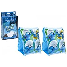 childrens kids novelty smurfs inflatable swimming arm bands for age 3-6 year olds