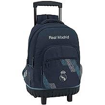 Safta Mochila Grande Ruedas Compact Real Madrid, Unica 611834818