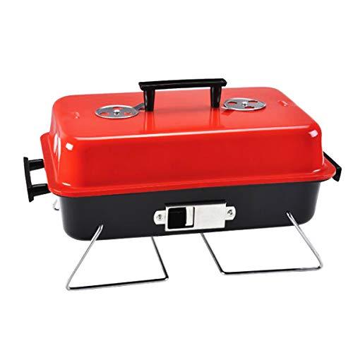 Amp epro grill da tavolo per esterni 001-3 con coperchio per giardino, gite, bbq, feste, campeggio, outdoor, picnic, facile da trasportare e trasportare, salvaspazio.