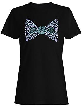Cinta Del Arco De Paisley camiseta de las mujeres n640f