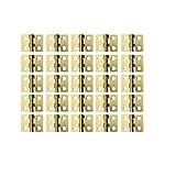 Rzdeal 50pcs Mini Charnières Charnières 8x 10mm avec vis de cuivre pour maison de poupée miniature meubles Armoire de cabinet