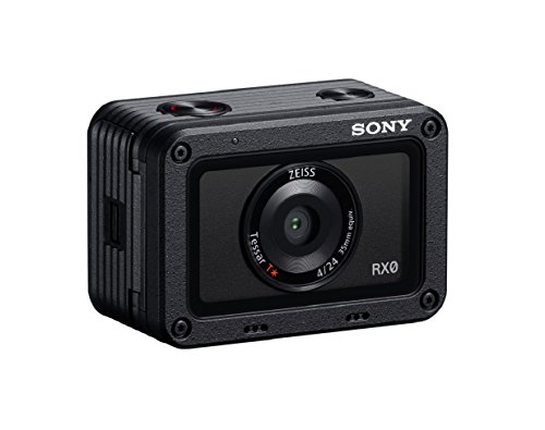 "Sony DSC-RX0, Fotocamera Digitale Cyber-Shot Ultracompatta, Waterproof, Sensore CMOS Exmor RS da 1"" e 15.3 Megapixel, Super Slow Motion, Scatto fino a 16 fps, Obiettivo ZEISS Tessar T 24mm, F4.0"