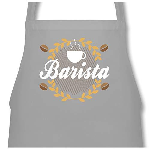Shirtracer Küche - Barista - 60 x 87 cm (B x H) - Hellgrau - PW102 - Kochschürze für Männer und Damen