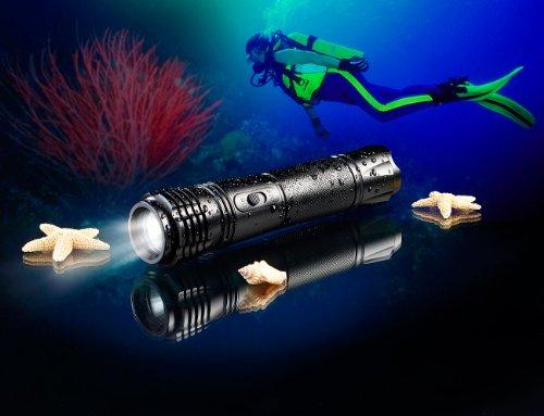 KryoLights LED-Taschenlampe für Taucher, wasserdicht bis 100 m, 240 lm - 2