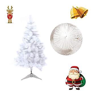 Froadp 60cm Agujas de Abeto Blanco Artificial Árbol de Navidad Abeja de Pino (Agujas de Abeto Blanco, 60cm)