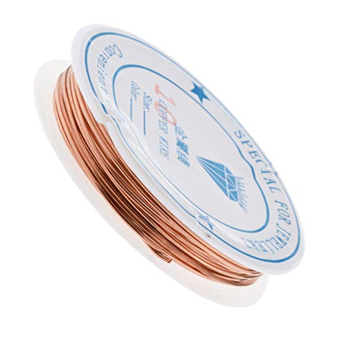 D DOLITY Rund Edelstahl Basteldraht Metalldraht Kupferdraht Schmuckfaden Silberdraht DIY Schmuck Herstellen - 1,0 mm -