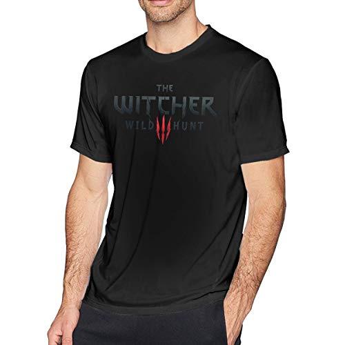 Wuyouhua The Witcher - Camiseta de Manga Corta para Hombre, Color Negro Negro Negro (L