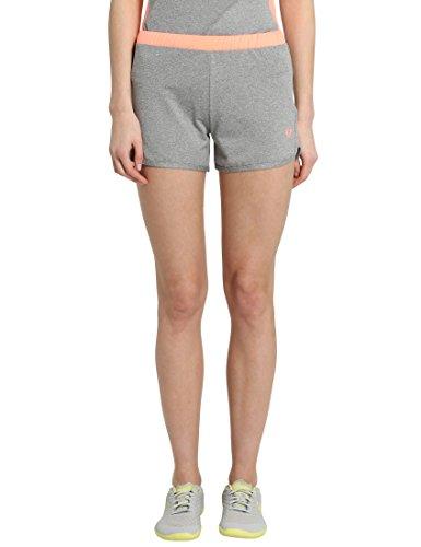 Coral Shorts Running (Ultrasport Damen Shorts Fitness-/Sport, Grau-Melange/Coral, M, 1360-150/181)
