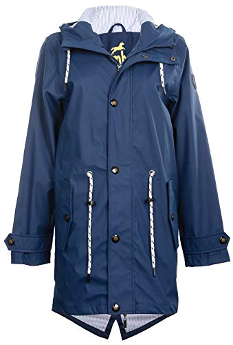 Friesennerz | Maritime Jacke | Regenjacke | veredelt | Das Original aus Ostfriesland in 2 Modell Norderney (3XL, Blau) - Mantel Damen Kurz Wolle Jacke