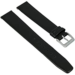 Graf Manufaktur Jazz Replacement Band Watch Band Leather Kalf Strap black leather 26203S, width:19mm