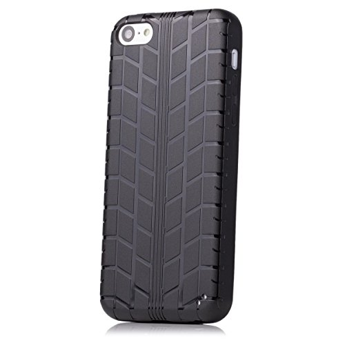 Apple iPhone 5C   neumáticos iCues caso de TPU Negro   [Protector de pantalla, incluyendo] caso de...