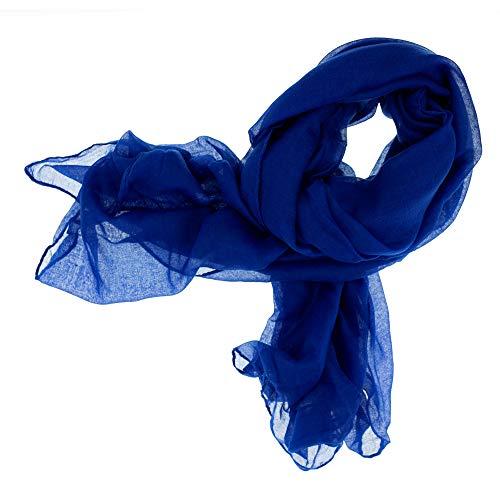 195bed6c4648c0 DOLCE ABBRACCIO CRAZY MAMA Damen Schal Halstuch Tuch Damenschal aus  Baumwolle MASH Schals Ganzjährig Frühling Sommer (Royalblau)