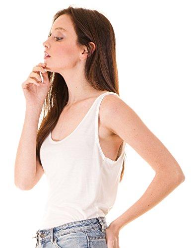 ICHI Essential Sleeveless t-Shirt by (XL - White)