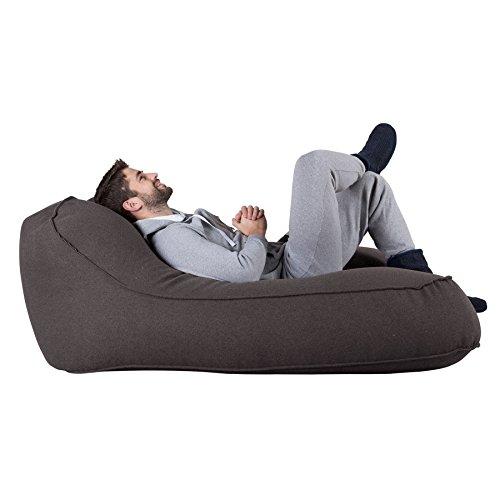 Lounge Pug®, Pouf Chaise Longue (2 Personnes), Interalli Laine Gris