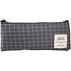 Wicemoon - Estuche para Lápices, Diseño de Rayas Negras, Gran Capacidad, Caja de Lápices para Niñas